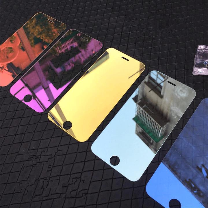 Зеркальное цветное стекло для iPhone 5